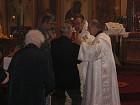 Faithful receive Communion