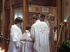 Altar Servers wash Bishop's hands before Great Entrance