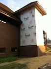 Elevator shaft with matching brick at base - 8/10/2012