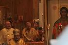 Subdeacon Nicholas is led around altar table