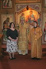 Newly ordained Deacon Nicholas and Larissa with Bishop Nikon