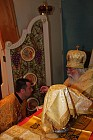 Dn. Nicholas receives blessing from Bishop Job