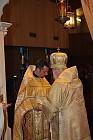 Bishop Job adjusts Phelonion