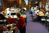 We enjoyed our Parish Picnic on Sunday, October 2, 2016. The weather was gray and rainy (welcome relief from the recent drought) so we gathered indoors.