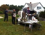 Paul S., Matt and Kristen A., and John S. were our BBQ chefs for the day. Check out the mobile grill rig!