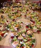 Some of the wonderful appetizer trays that circulated during the Festival to the delight of all gathered for the event.
