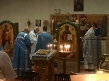 The Clergy concelebrate at the Holy Altar during the Divine Liturgy