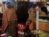 Fr. John blesses the Water, as Fr. James observes